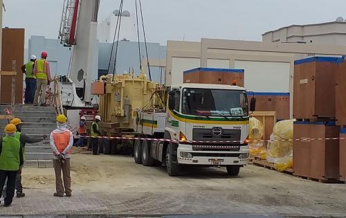 Turk Heavy Transport Deliver Transformers to Eskan Substation