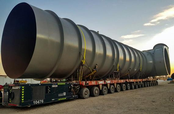 Turk Heavy Transport Handle Load for ALBA Power Station 5