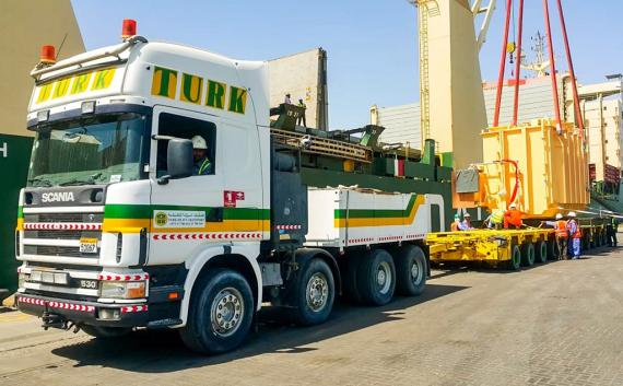 Turk Heavy Transport Deliver Transformers to Al Dhale Substation