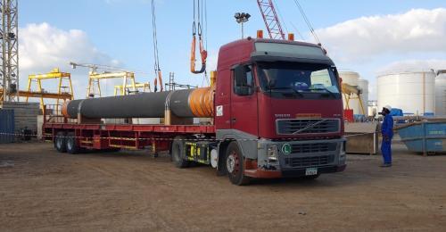 Wilhelmsen UAE Handles Movement of Pipe Spools