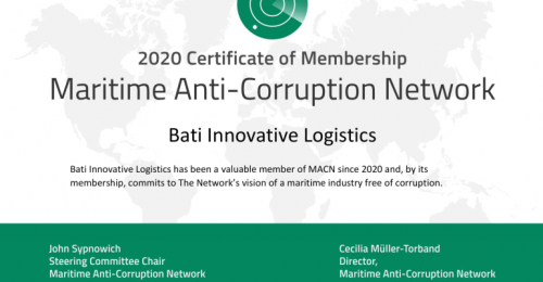 BATI Certified by the Maritime Anti-Corruption Network